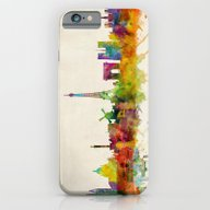 Paris Skyline Watercolor iPhone 6 Slim Case