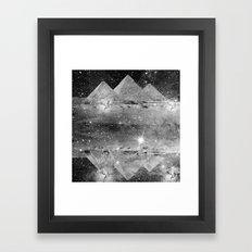 b&w pyramids Framed Art Print