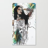 Wonder Abstract Portrait Canvas Print