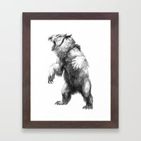 Owlbear Framed Art Print