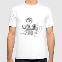 Woman On Bird Mens Fitted Tee White SMALL