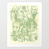 Rise And Shine Green Art Print
