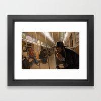 Ghost Train Framed Art Print