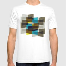 Aronde Pattern #03 Mens Fitted Tee SMALL White