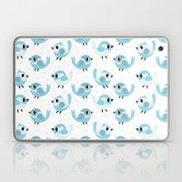 Happy Blue Birds Pattern Laptop & iPad Skin