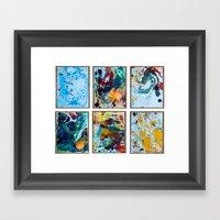 Oil Spill Framed Art Print