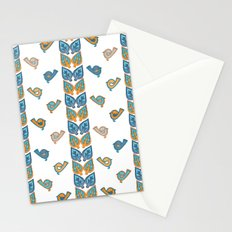 Leaves & Birds Pattern Stationery Cards