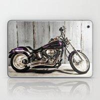 Purple Harley Softail Laptop & iPad Skin