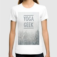 Yoga Geek Womens Fitted Tee White SMALL