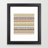 Mountain Triangle Patter… Framed Art Print