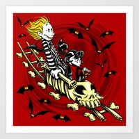 Calvydia And Beetlehobbe… Art Print