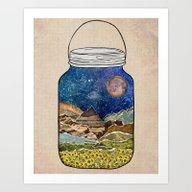 Star Jar Art Print