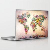 world map Laptop & iPad Skins featuring world map by Bekim ART