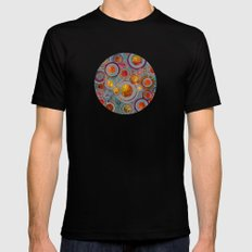 Full of Golden Dots Mens Fitted Tee Black SMALL