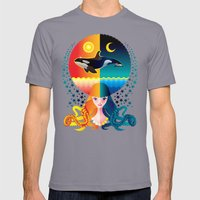 Dream - Sea Day & Night Mens Fitted Tee Slate SMALL