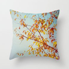 textured leaves. Throw Pillow