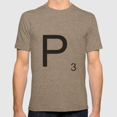 Scrabble P Mens Fitted Tee Tri-Coffee SMALL