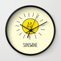 Sunswine Wall Clock