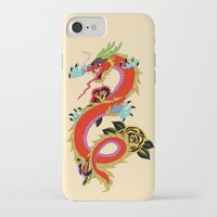 dragon iPhone & iPod Cases featuring dragon  by mark ashkenazi