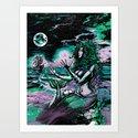 Mermaid Siren Pearl of atlantis mythology Art Print