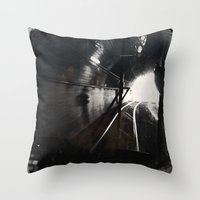 Black and White San Francisco Doboce Tunnel Throw Pillow