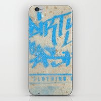 DIRTY CASH - TAGGING STREETART MIAMI by Jay Hops iPhone & iPod Skin