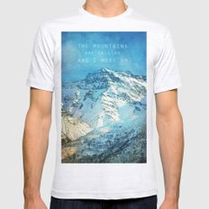 Adventure. The Mountains… Mens Fitted Tee Ash Grey SMALL