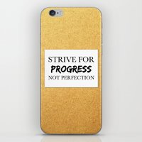 Strive for progress, not perfection iPhone & iPod Skin