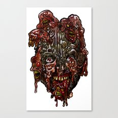 Heads of the Living Dead  Zombies: Cure Backfire Zombie Canvas Print