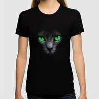 Black Cat Womens Fitted Tee Black SMALL