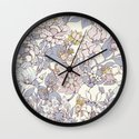 Garden party - jasmine tea version Wall Clock