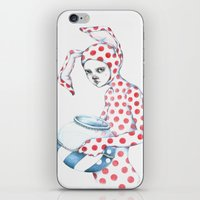 Red Dotted Bunny iPhone & iPod Skin
