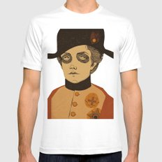 An Officer and a Lady White Mens Fitted Tee SMALL