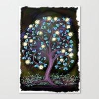 Black Mystic Tree Canvas Print
