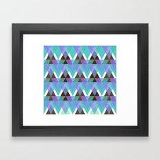 GlitterTriangles Framed Art Print