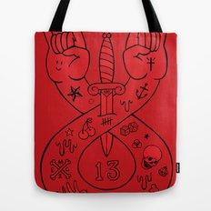 lament red Tote Bag