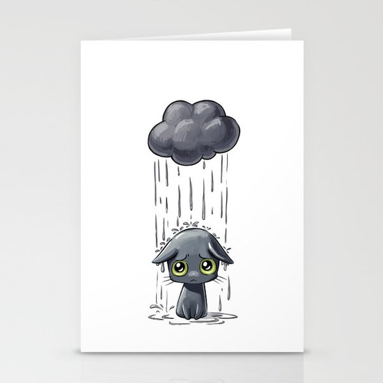 Pouring Stationery Card