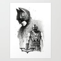 Bat In Black (The Dark Knight Rises) Art Print