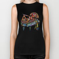 Every morning Jack plays the piano! Biker Tank