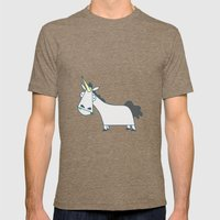 Grazing Unicorns Mens Fitted Tee Tri-Coffee SMALL