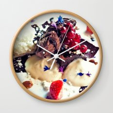 Chococlate and sponge Wall Clock