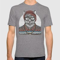 So Hipster Mens Fitted Tee Tri-Grey SMALL