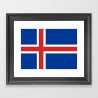 National flag of Iceland - Authentic Framed Art Print