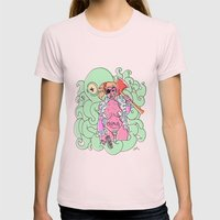 baddest b_tch Womens Fitted Tee Light Pink SMALL