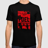 FUEL Mens Fitted Tee Black SMALL