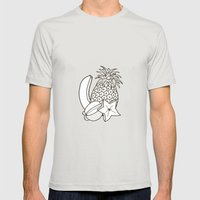 Still life Mens Fitted Tee Silver SMALL