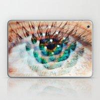 Green Eyes Hypnotize  Laptop & iPad Skin