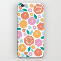 Cheerful Florals iPhone & iPod Skin