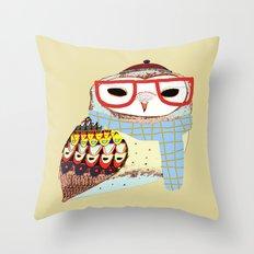 Snug Owl Throw Pillow