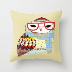 Snug Owl Throw Pillow